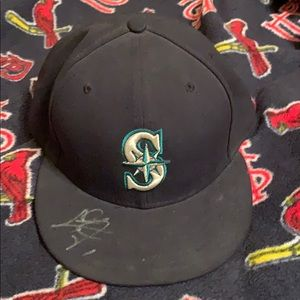 Seattle Mariners Chris Taylor signed hat